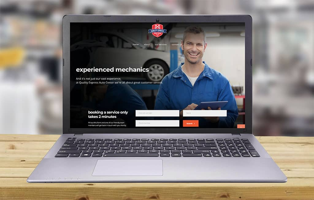 Website Design for Collision repair and Mechanical repair Center