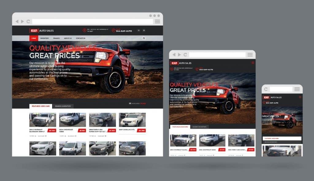 Responsive Website Design for used car dealership in Morrisville, PA